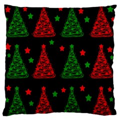 Decorative Christmas trees pattern Standard Flano Cushion Case (One Side)