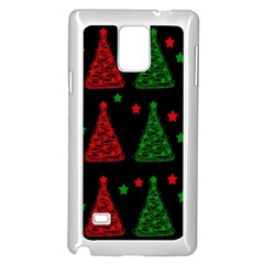 Decorative Christmas trees pattern Samsung Galaxy Note 4 Case (White)