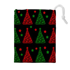Decorative Christmas trees pattern Drawstring Pouches (Extra Large)