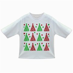 Decorative Christmas trees pattern - White Infant/Toddler T-Shirts
