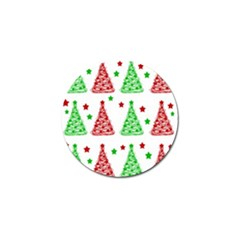Decorative Christmas trees pattern - White Golf Ball Marker (10 pack)
