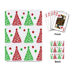 Decorative Christmas trees pattern - White Playing Card