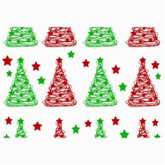 Decorative Christmas trees pattern - White Collage Prints