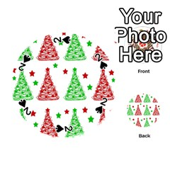 Decorative Christmas trees pattern - White Playing Cards 54 (Round)