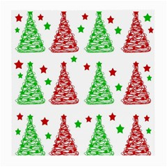 Decorative Christmas trees pattern - White Medium Glasses Cloth