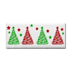 Decorative Christmas trees pattern - White Hand Towel