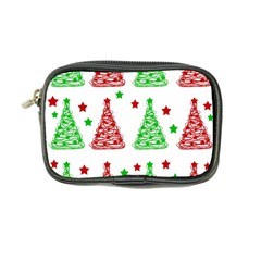 Decorative Christmas trees pattern - White Coin Purse