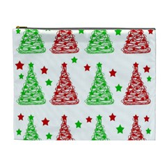 Decorative Christmas trees pattern - White Cosmetic Bag (XL)