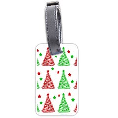 Decorative Christmas trees pattern - White Luggage Tags (One Side)