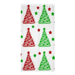 Decorative Christmas trees pattern - White Shower Curtain 36  x 72  (Stall)