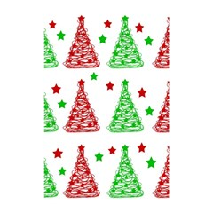 Decorative Christmas trees pattern - White Shower Curtain 48  x 72  (Small)
