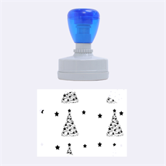 Decorative Christmas trees pattern - White Rubber Oval Stamps