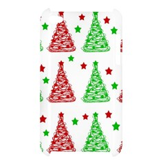 Decorative Christmas trees pattern - White Apple iPod Touch 4