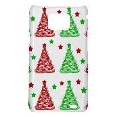 Decorative Christmas trees pattern - White Samsung Galaxy S2 i9100 Hardshell Case