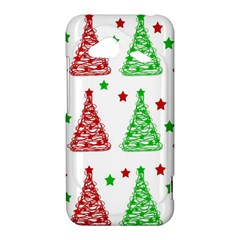 Decorative Christmas trees pattern - White HTC Droid Incredible 4G LTE Hardshell Case