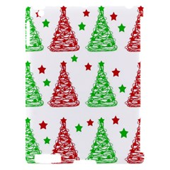 Decorative Christmas trees pattern - White Apple iPad 2 Hardshell Case (Compatible with Smart Cover)