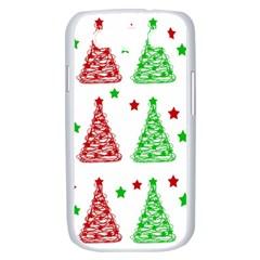 Decorative Christmas trees pattern - White Samsung Galaxy S III Case (White)