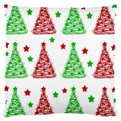 Decorative Christmas trees pattern - White Large Cushion Case (Two Sides)