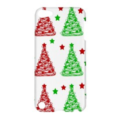 Decorative Christmas trees pattern - White Apple iPod Touch 5 Hardshell Case