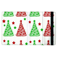 Decorative Christmas trees pattern - White Apple iPad 2 Flip Case