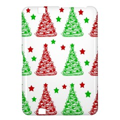 Decorative Christmas trees pattern - White Kindle Fire HD 8.9