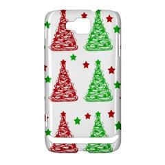 Decorative Christmas trees pattern - White Samsung Ativ S i8750 Hardshell Case