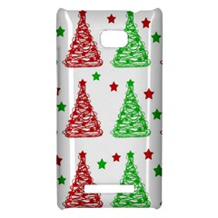 Decorative Christmas trees pattern - White HTC 8X