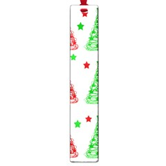 Decorative Christmas trees pattern - White Large Book Marks
