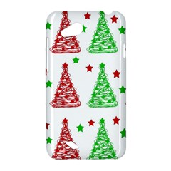 Decorative Christmas trees pattern - White HTC Desire VC (T328D) Hardshell Case