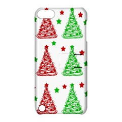 Decorative Christmas trees pattern - White Apple iPod Touch 5 Hardshell Case with Stand
