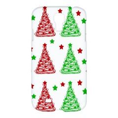 Decorative Christmas trees pattern - White Samsung Galaxy S4 I9500/I9505 Hardshell Case