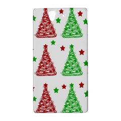Decorative Christmas trees pattern - White Sony Xperia Z