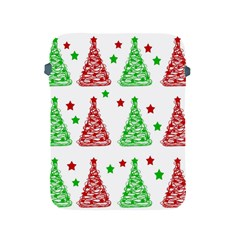 Decorative Christmas trees pattern - White Apple iPad 2/3/4 Protective Soft Cases