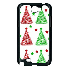 Decorative Christmas trees pattern - White Samsung Galaxy Note 2 Case (Black)
