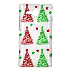 Decorative Christmas trees pattern - White Sony Xperia SP