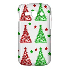 Decorative Christmas trees pattern - White Samsung Galaxy Ace 3 S7272 Hardshell Case