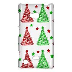 Decorative Christmas trees pattern - White Nokia Lumia 720