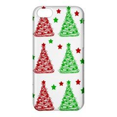 Decorative Christmas trees pattern - White Apple iPhone 5C Hardshell Case