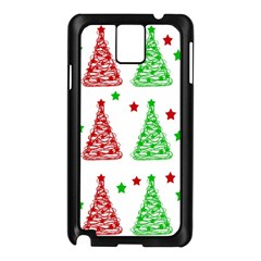 Decorative Christmas trees pattern - White Samsung Galaxy Note 3 N9005 Case (Black)