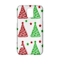 Decorative Christmas trees pattern - White Samsung Galaxy S5 Hardshell Case