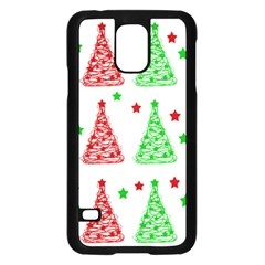 Decorative Christmas trees pattern - White Samsung Galaxy S5 Case (Black)