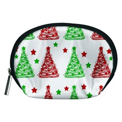 Decorative Christmas trees pattern - White Accessory Pouches (Medium)
