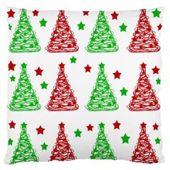 Decorative Christmas trees pattern - White Standard Flano Cushion Case (One Side)