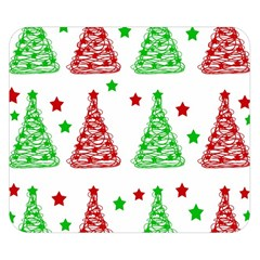 Decorative Christmas trees pattern - White Double Sided Flano Blanket (Small)