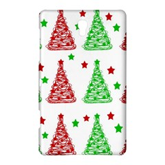 Decorative Christmas trees pattern - White Samsung Galaxy Tab S (8.4 ) Hardshell Case