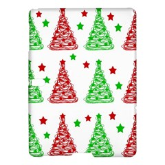 Decorative Christmas Trees Pattern   White Samsung Galaxy Tab S (10 5 ) Hardshell Case