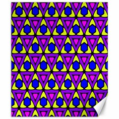 Triangles And Honeycombs Pattern                                                                                                   canvas 8  X 10