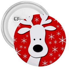 Christmas reindeer - red 3  Buttons