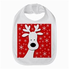 Christmas reindeer - red Bib