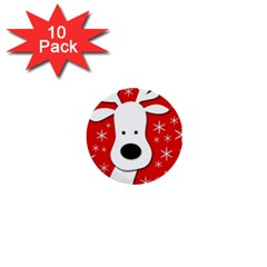 Christmas reindeer - red 1  Mini Buttons (10 pack)